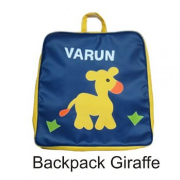 Personalized Backpack Giraffe in Garden-0