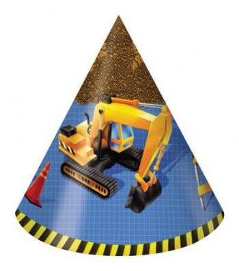 Under Construction Birthday Hats - 8CT-0