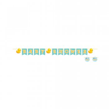 Baby Shower Duckie Letter Banner - 8FT-0