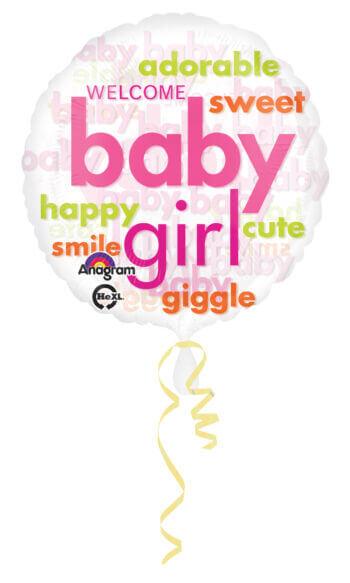 "Baby Boy Girl Cloud Balloons 18"" S50-0"