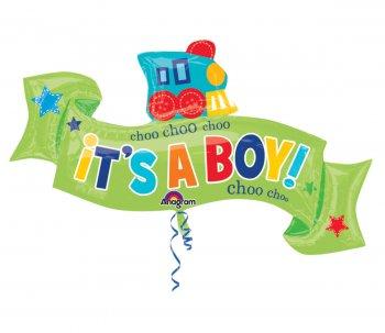 Little One Boy Banner SuperShape Balloons P35-0