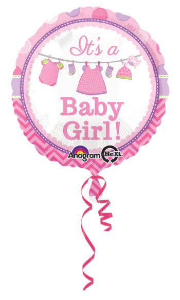 """Showe with Love Girl 18"""" Balloons S40-0"""