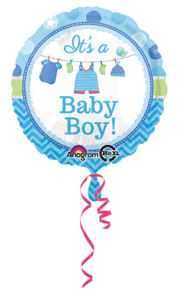 """Showe with Love Boy 18"""" Balloons S40-0"""