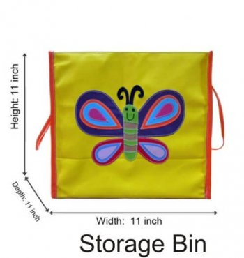 Personalized Storage Bin With Lid -Butterfly-0