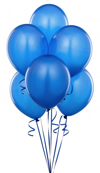 "Metallic Royal Blue Latex Balloons 12"" - 100CT-0"