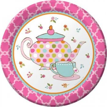 "Wonderland Theme Party Dessert Plates 7"" - 8CT-0"