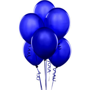 "8"" Dark Blue Latex Balloons - 20Ct-0"
