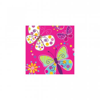 Butterfly Sparkle Lunch Napkins - 16CT-0