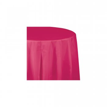 "Hot Pink Round Table cover - 84""-0"