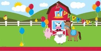 """Farmhouse Fun Party Tablecover 54x108""""-0"""