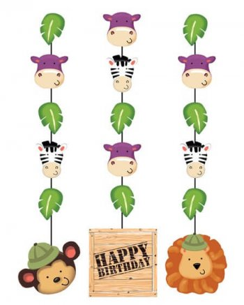 Jungle Safari Hanging Cutouts - 3CT-0