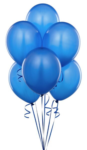 "8"" Blue Latex Balloons - 20Ct-0"