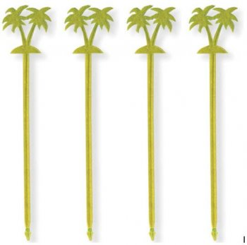 Palm Tree Plastic Toothpicks - 12CT-0