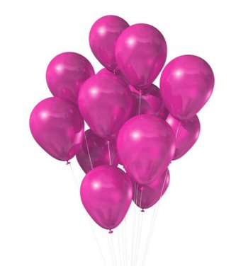 "Metallic Hot Pink Latex Balloons 12"" - 100CT-0"