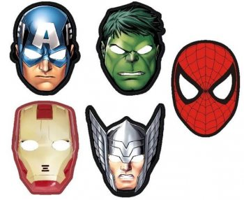 Avengers Superheroes Assorted Face Masks - 10CT-0