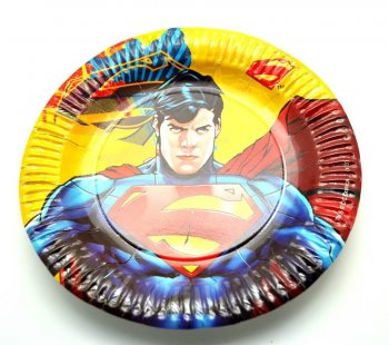 "Superman Paper Plates 9"" - 10CT-0"