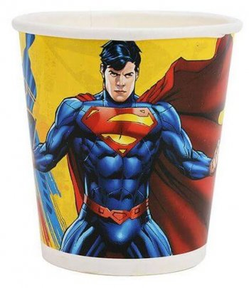 Superman Paper Cups - 10CT-0