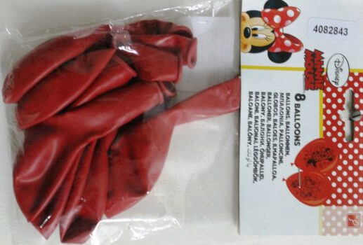 """Minnie Mouse 12"""" Latex Balloons - 8CT-0"""