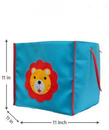 Personalized Storage Bin With Lid -Lion-0