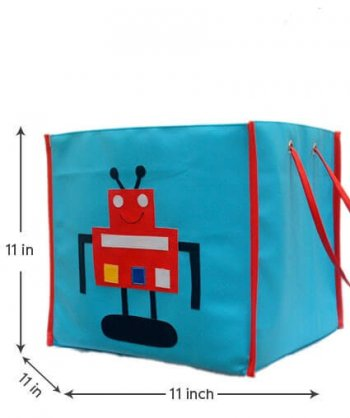 Personalized Storage Bin With Lid -Robot-0