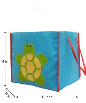 Personalized Storage Bin Without Lid - Turtle-0
