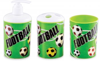 3D Football Print Bathroom Set - 3PC-0