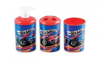 3D Hotwheels Bathroom Set - 3PC-0