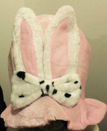Pink Rabbit Hat Adult-0