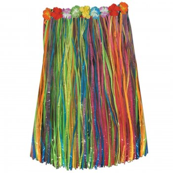 Multi-color Adult Hula Skirt-0