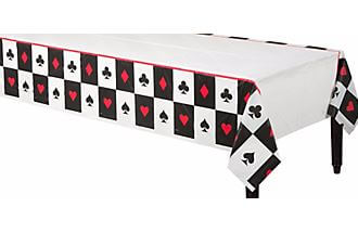 """Card Night Plastic Tablecover 54X108""""-0"""