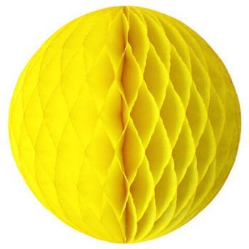 "Yellow Honeycomb Ball 10"" -0"