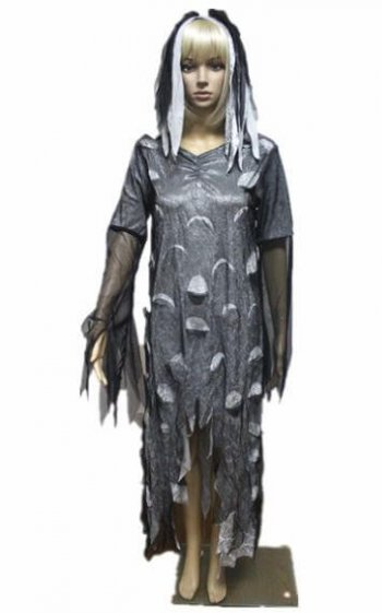 Tattered Zombie Adult Dress-0