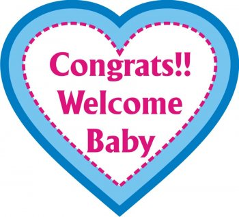 Congrats Welcome Baby Photo Prop-0
