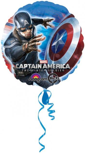 """Captain America Balloons 18""""-0"""