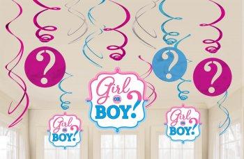 Swirl Decoration Boy or Girl - 12PC-0