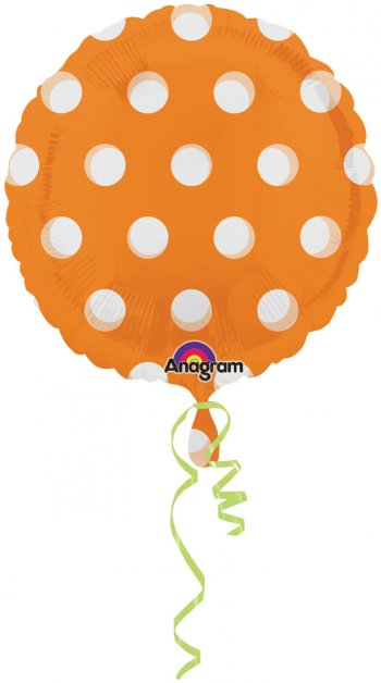 "See Thru Dots Orange 18"" S50-0"