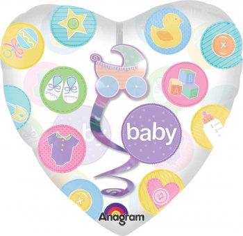 """New Baby Dangler Balloons 32"""" P70-0"""