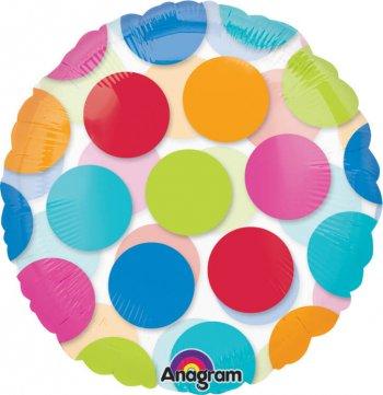 "Cabana Dots Balloons 18"" S50-0"