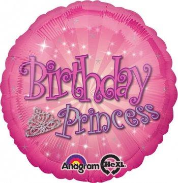 "Birthday Princess Balloons 18"" S40-0"