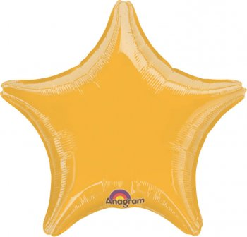 "Metallic Gold Star Balloons 18"" S15-0"