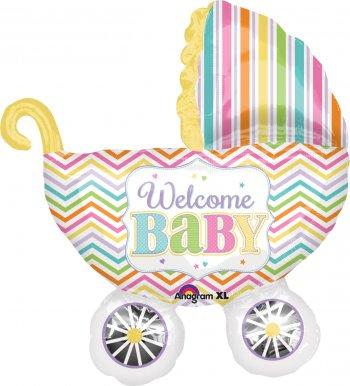 Welcome Baby Pram Balloons P30-0
