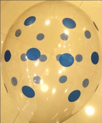 "Transparent Polka Dot Blue Balloons 12"" -0"