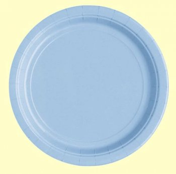 "10"" Premium Plastic Carribean Blue Plates - 10PC-0"