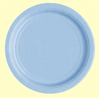 """10"""" Premium Plastic Carribean Blue Plates - 10PC-0"""