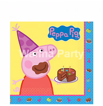 Peppa Pig Paper Napkins - 16PC-0