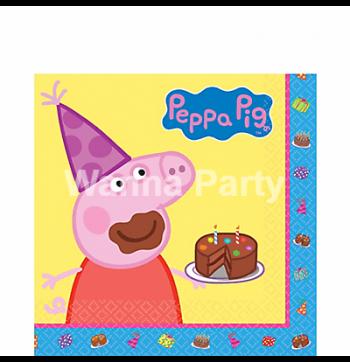 Peppa Pig Paper Napkins - 16PC-0