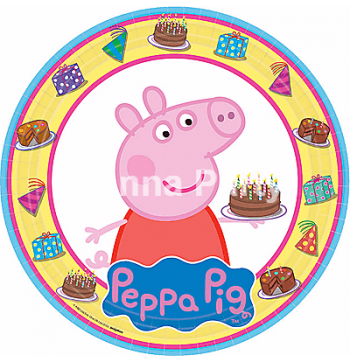 Peppa Pig Paper Plates - 8PC-0