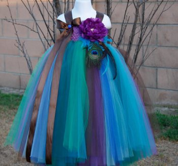 Turquoise Peacock Dress-0