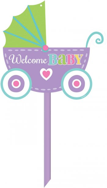 Welcome Baby Yard Sign-0