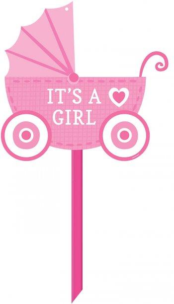 Baby Girl Yard Sign-0